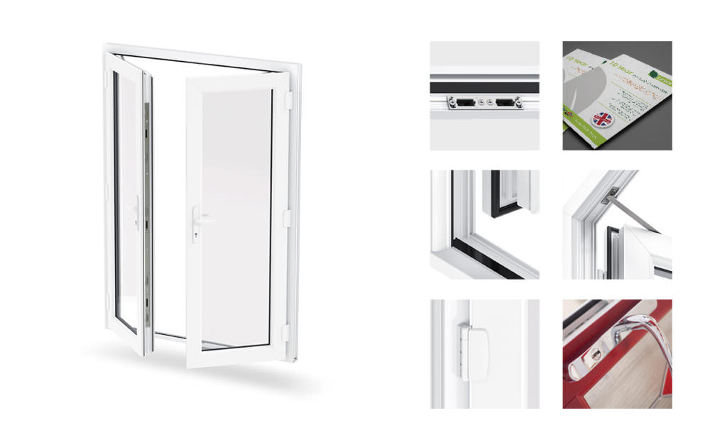 Upvc french doors slough affordable windows for Upvc french doors with top light